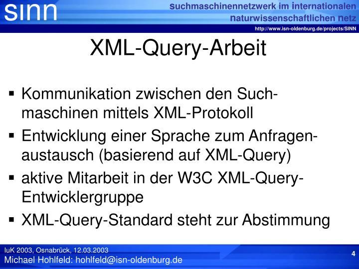 XML-Query-Arbeit