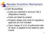nevada incentive mechanism3