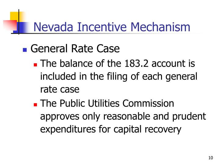 Nevada Incentive Mechanism