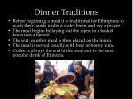 dinner traditions