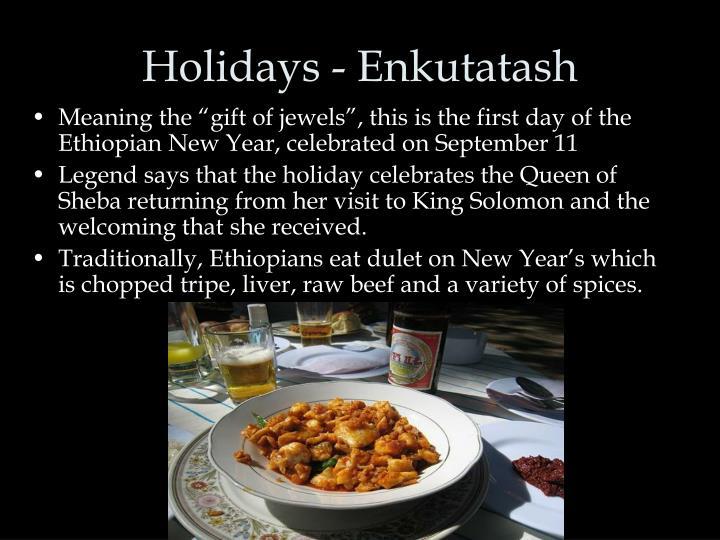 Holidays - Enkutatash
