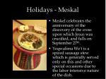 holidays meskal
