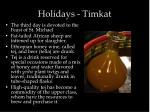 holidays timkat1