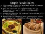 staple foods injera