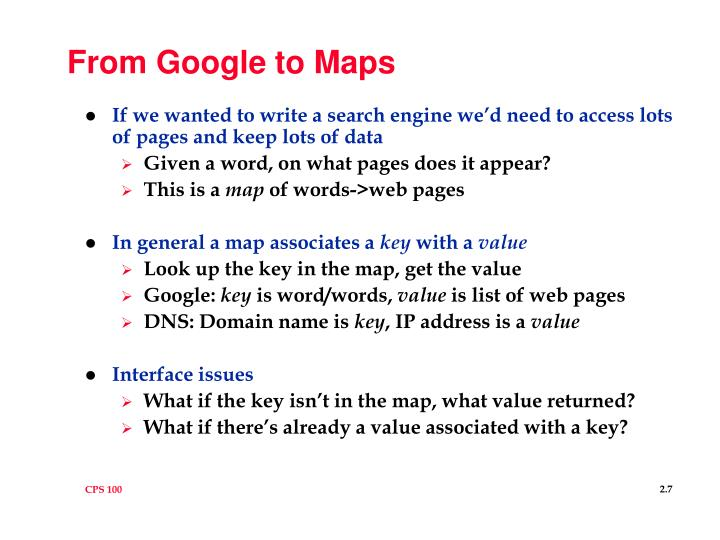 From Google to Maps