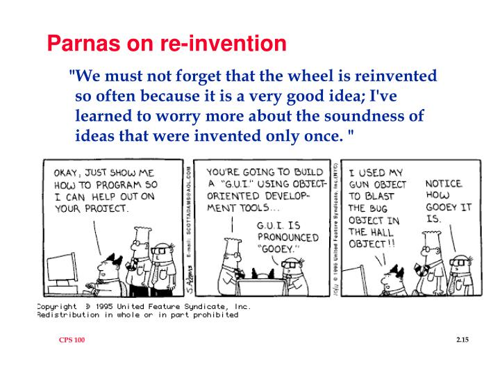 Parnas on re-invention