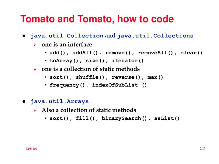 Tomato and Tomato, how to code