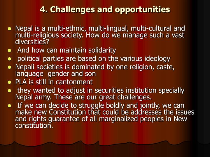 4. Challenges and opportunities