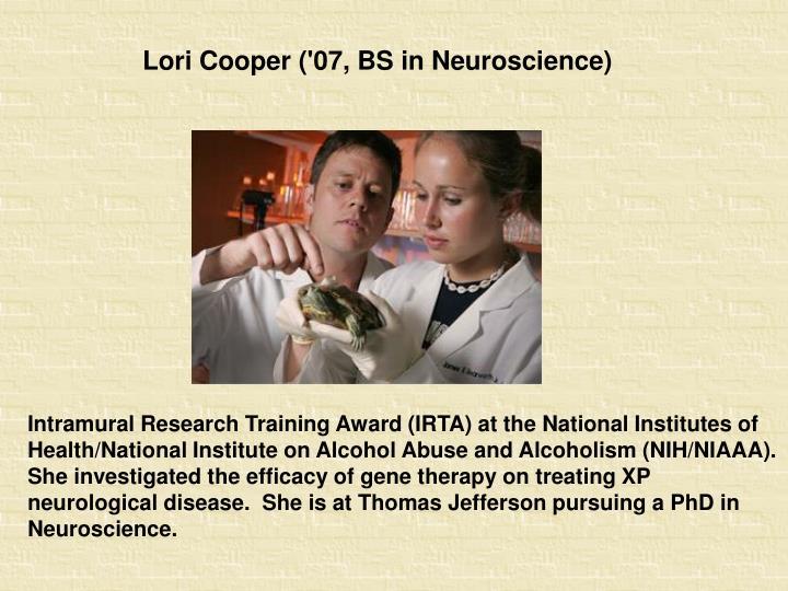 Lori Cooper ('07, BS in Neuroscience)