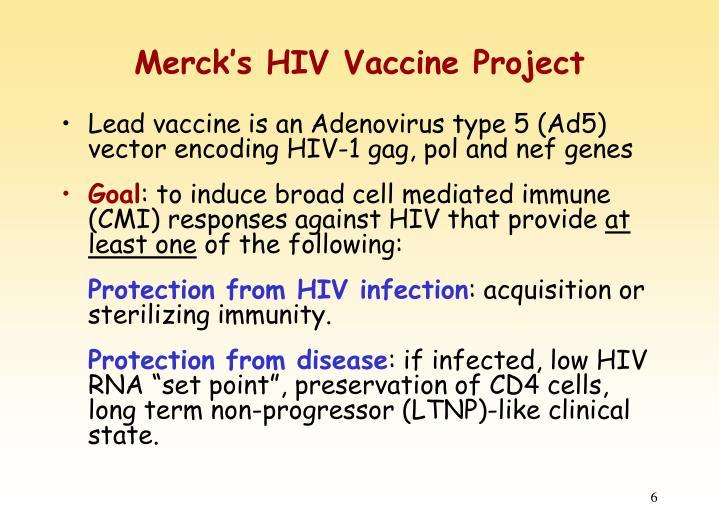 Merck's HIV Vaccine Project