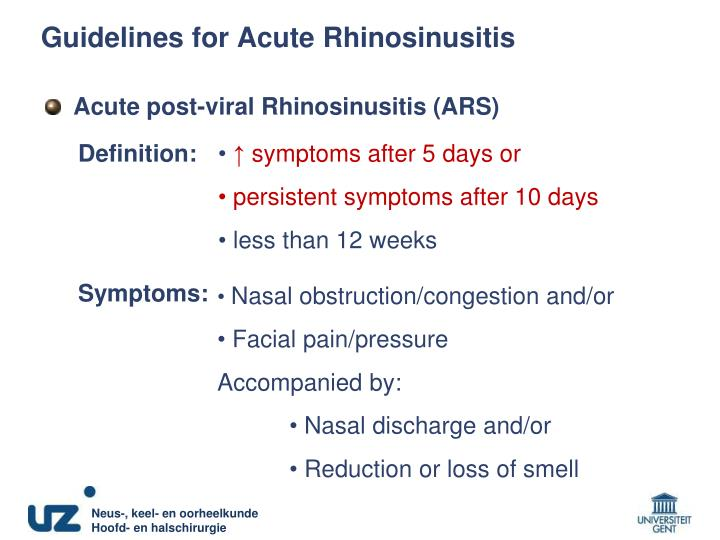 Guidelines for Acute