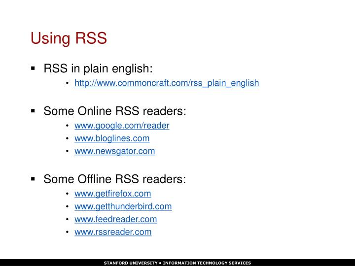 Using RSS