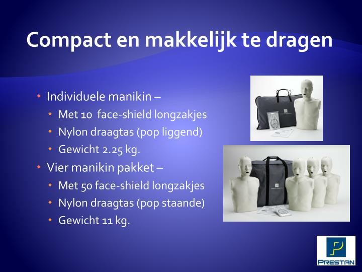 Compact en makkelijk te dragen