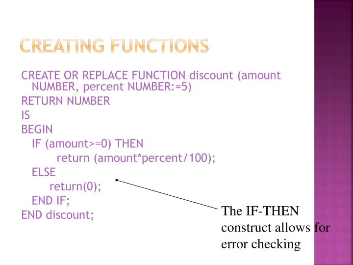 Creating Functions