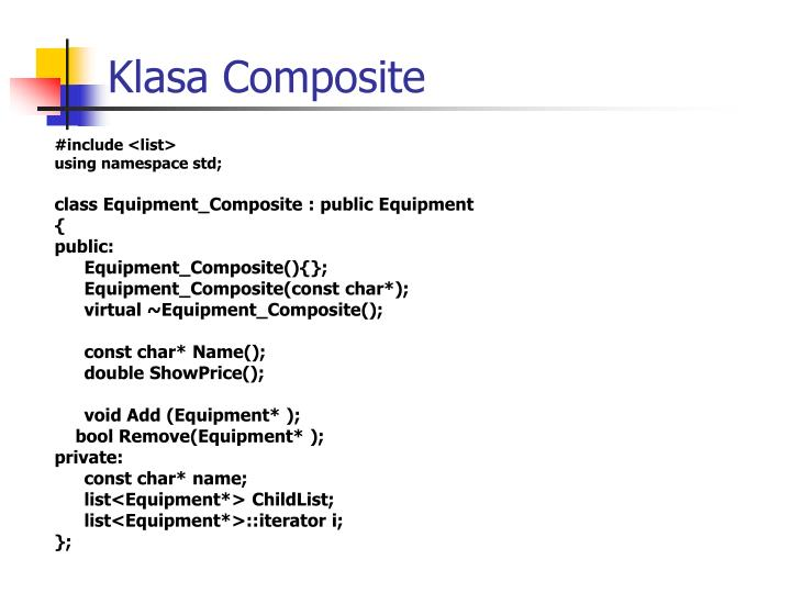 Klasa Composite
