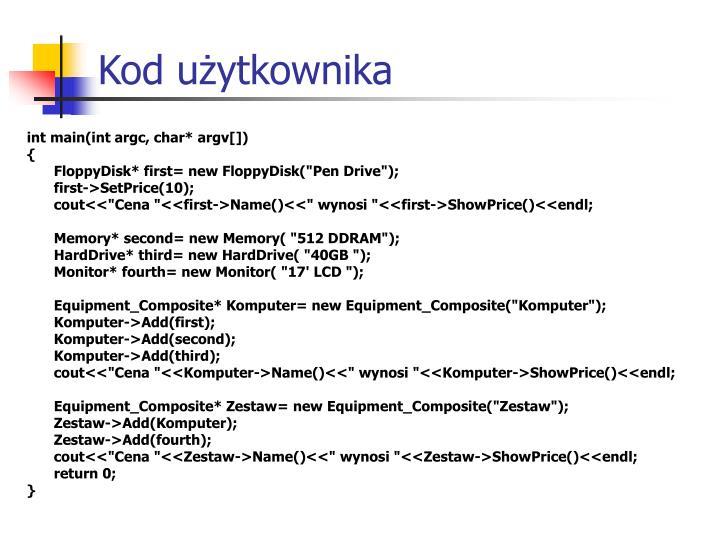 Kod użytkownika