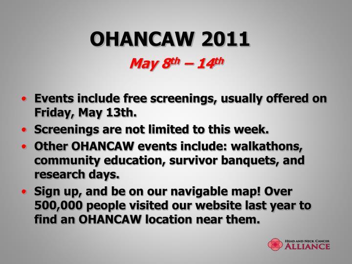 OHANCAW 2011