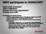 why participate in ohancaw