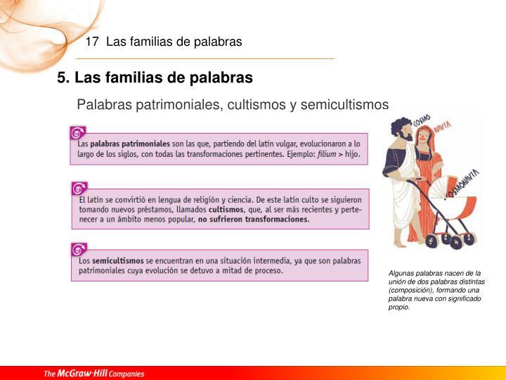 5. Las familias de palabras