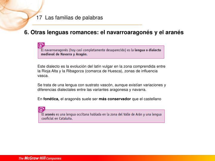 6. Otras lenguas romances: el navarroaragonés y el aranés