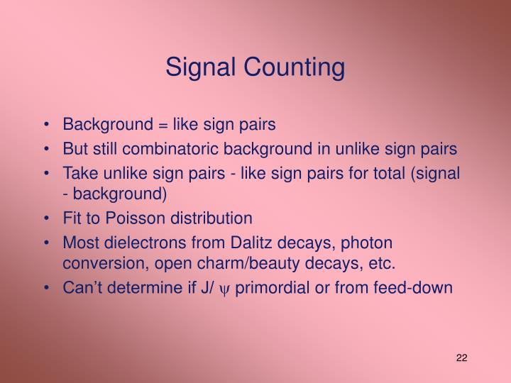 Signal Counting