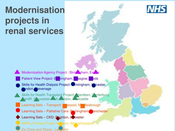 Modernisation projects in renal services