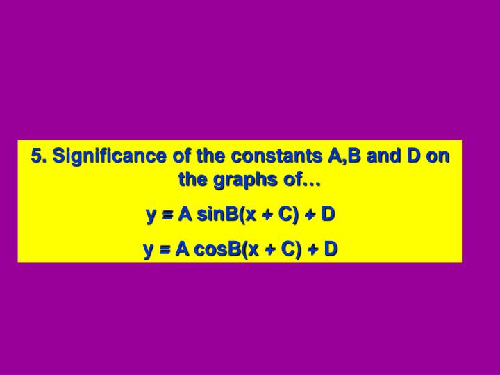 5. Significance of the constants A,B and D on the graphs of…