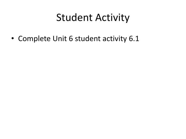 Student Activity