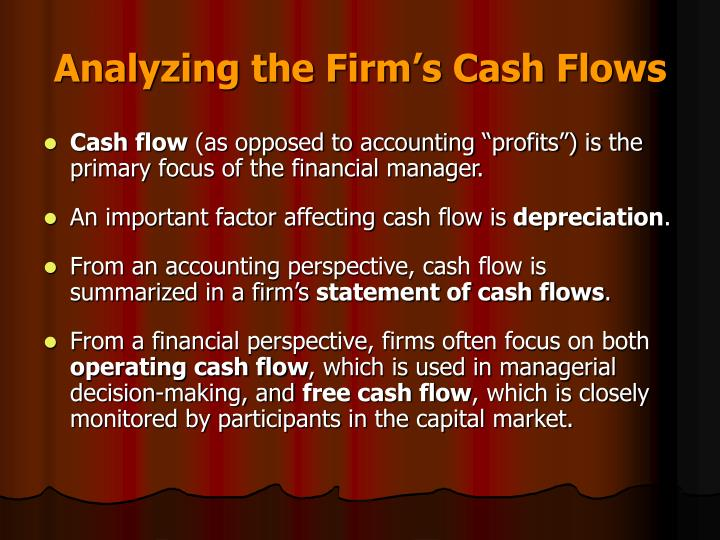 Analyzing the Firm's Cash Flows