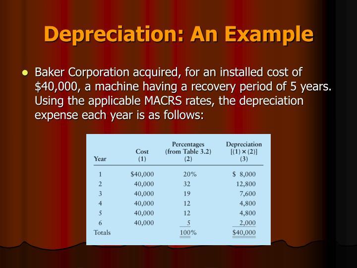 Depreciation: An Example