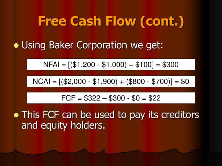 Free Cash Flow (cont.)