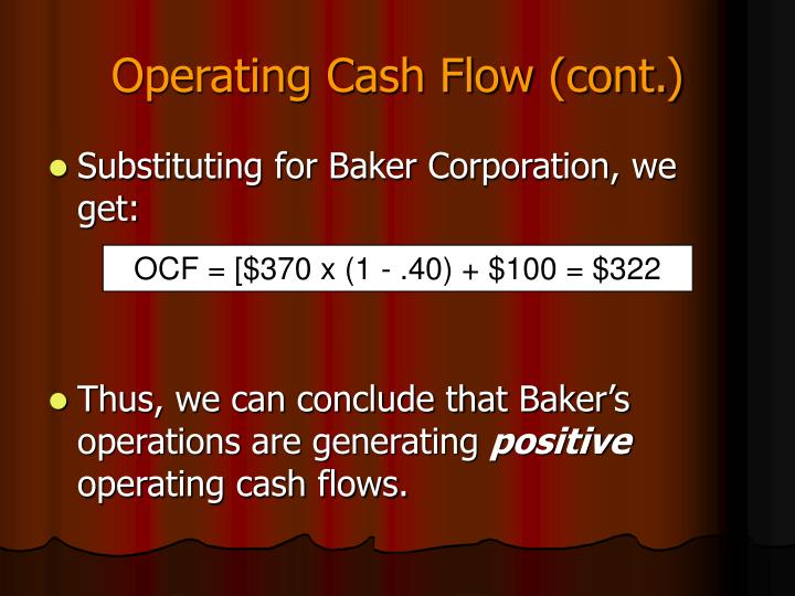 Operating Cash Flow (cont.)