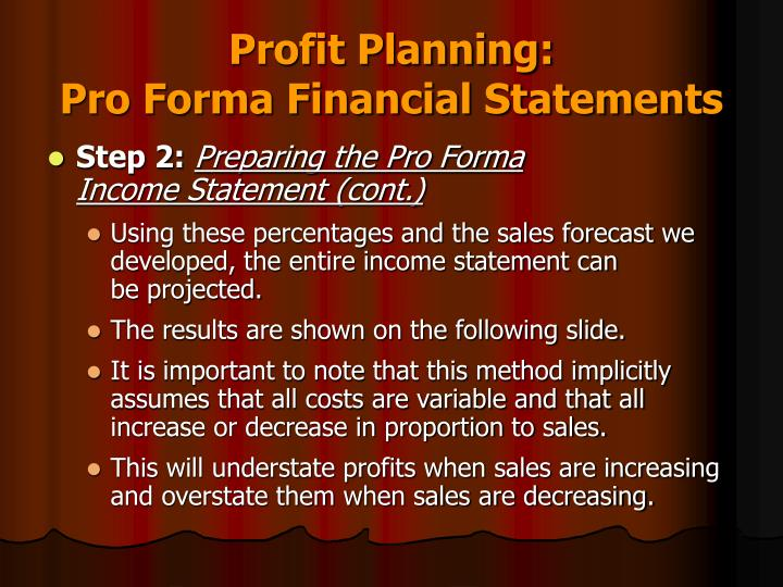 Profit Planning: