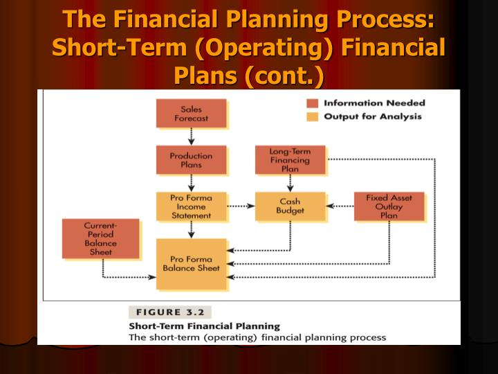The Financial Planning Process: Short-Term (Operating) Financial Plans (cont.)
