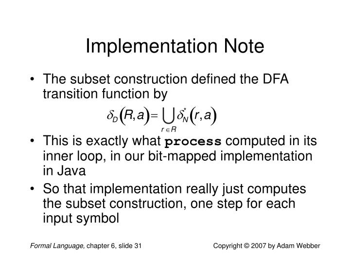 Implementation Note