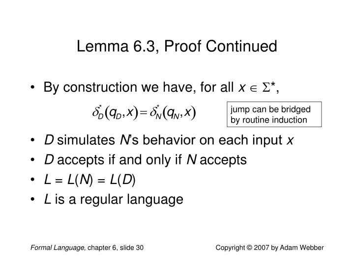 Lemma 6.3, Proof Continued