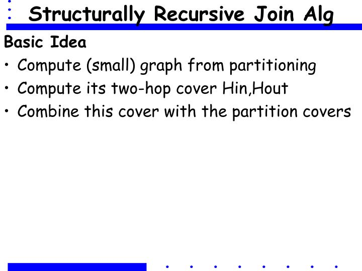 Structurally Recursive Join Alg