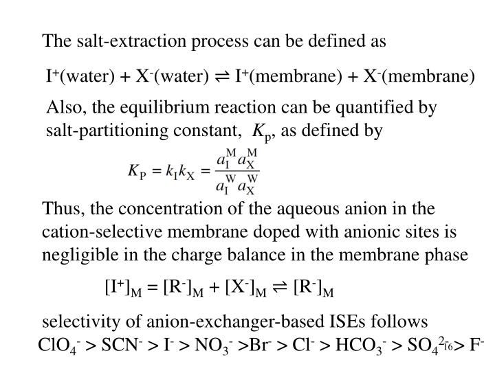 The salt-extraction process can be defined as
