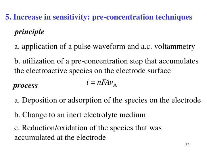 5. Increase in sensitivity: pre-concentration techniques