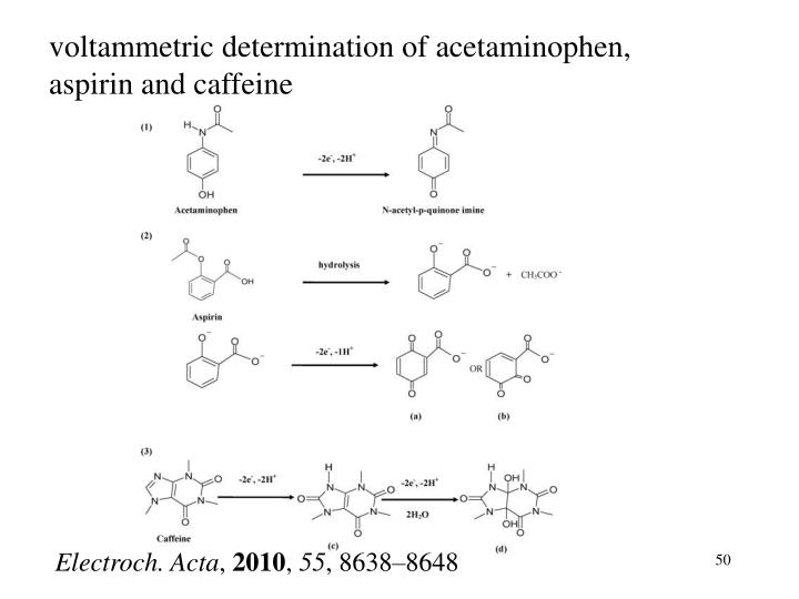voltammetric determination of acetaminophen, aspirin and caffeine