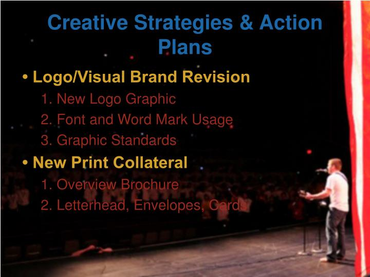 Creative Strategies & Action Plans