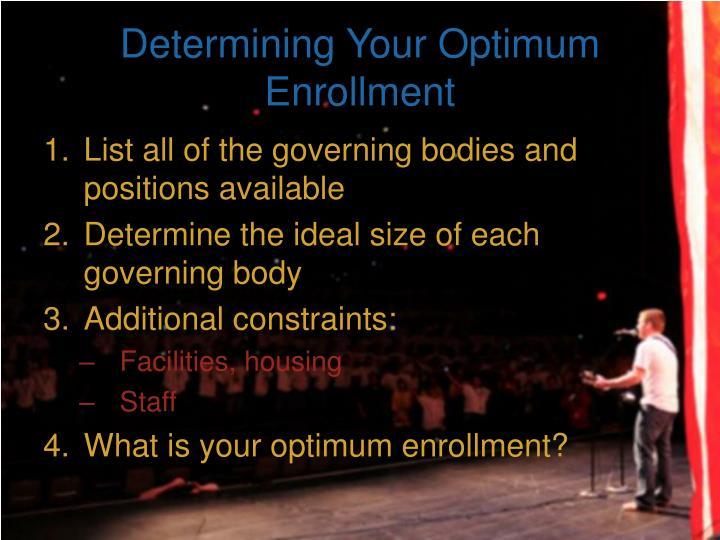 Determining Your Optimum Enrollment