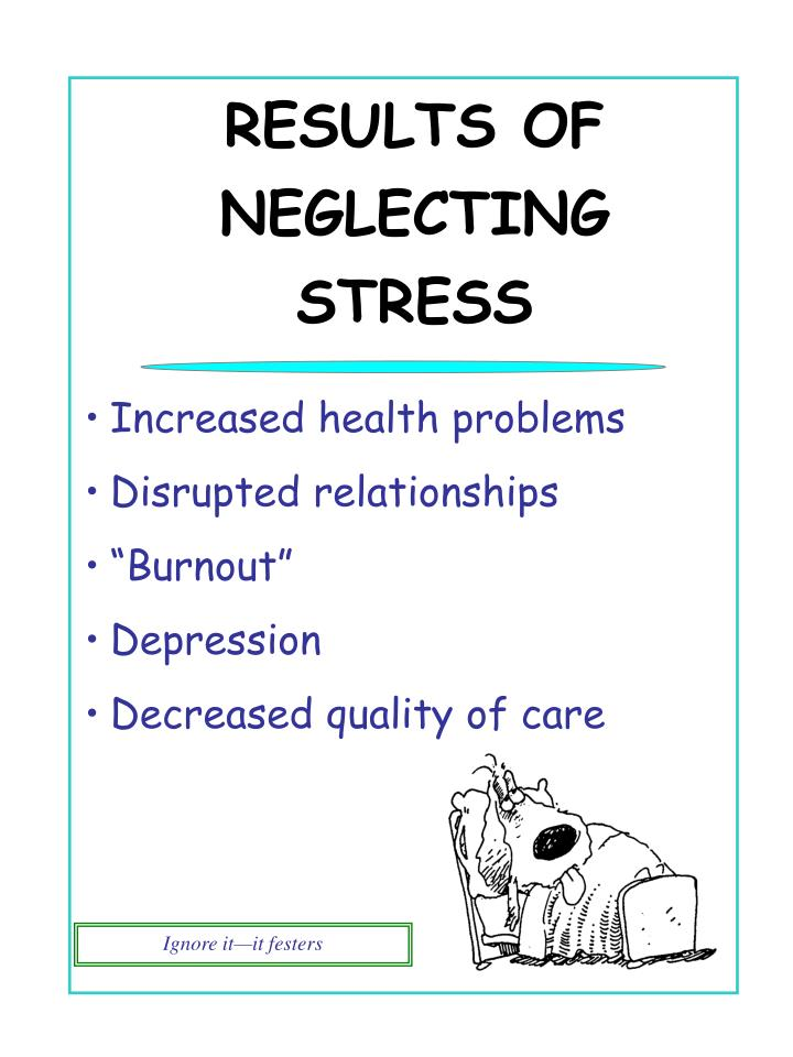 RESULTS OF NEGLECTING STRESS