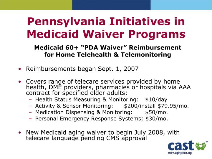 Pennsylvania Initiatives in Medicaid Waiver Programs