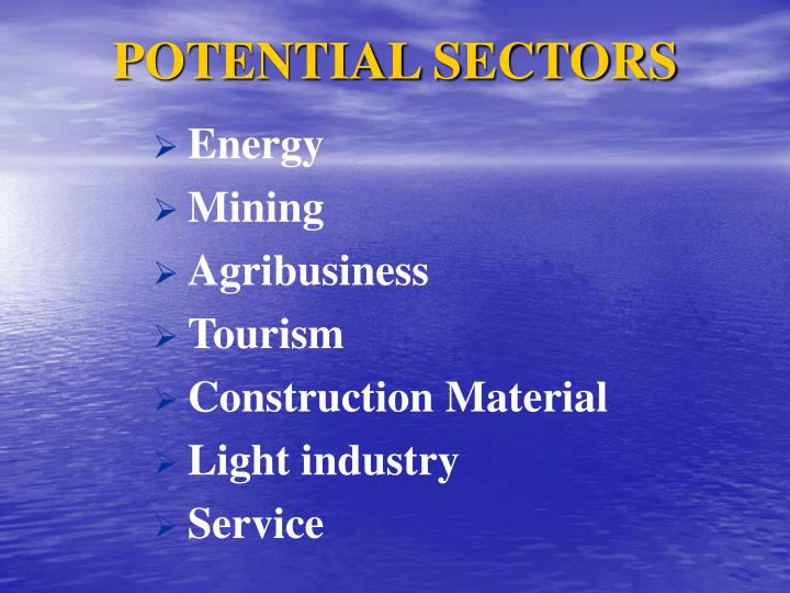 POTENTIAL SECTORS