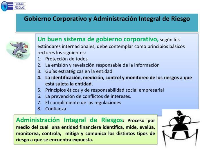 Gobierno Corporativo y Administración Integral de Riesgo