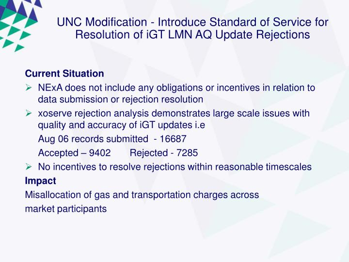 UNC Modification -