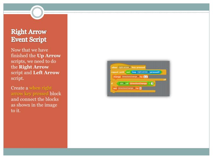 Right Arrow Event Script