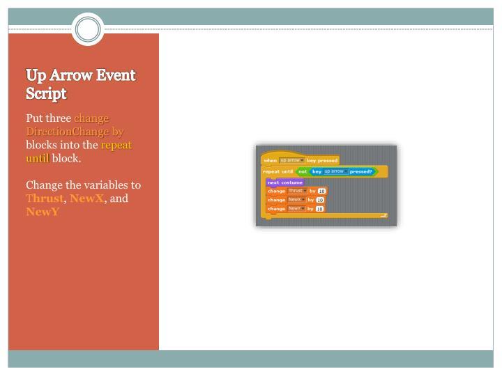 Up Arrow Event Script