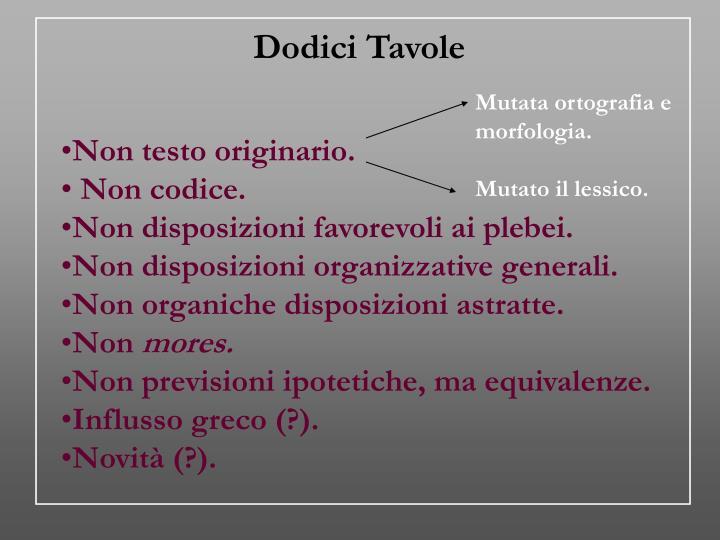 Dodici Tavole
